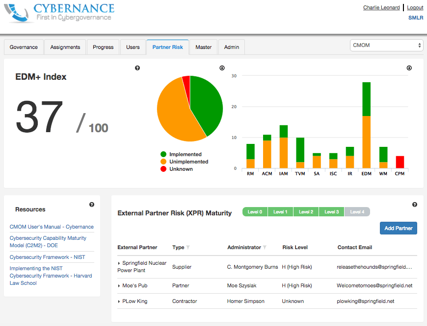 "Cybernance XPR Module (""External Partner Risk"")"